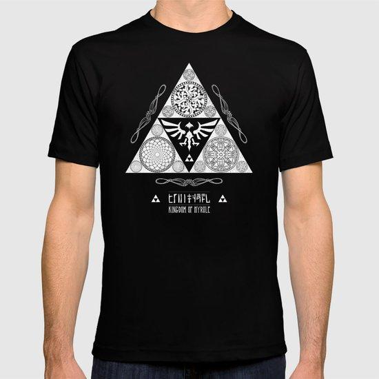 Legend of Zelda Kingdom of Hyrule Crest Letterpress Vector Art T-shirt
