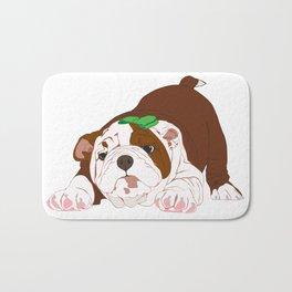 Tuff Puppy in Green Bow Bath Mat