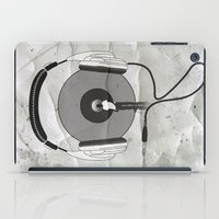 afro iPad Cases featuring vinyl afro by Vin Zzep