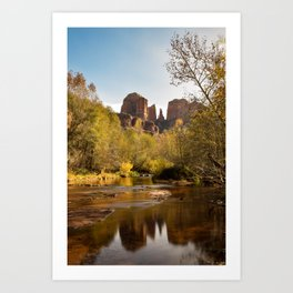 Red Rock Reflections Art Print