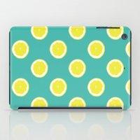 lemon iPad Cases featuring lemon by Panic Junkie