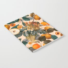 Vintage Fruit Pattern IX Notebook