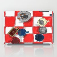 cigarettes iPad Cases featuring Coffee and Cigarettes by The Strawbridge Collective