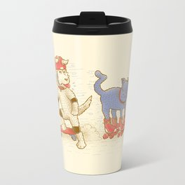 Skateboard dogs don't like roller skate cats Travel Mug