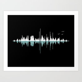 Music City ( Black version ) Art Print
