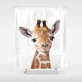 Baby Giraffe, Baby Animal Art Prints By Synplus Shower Curtain