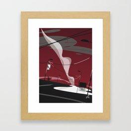 comic landscape Framed Art Print