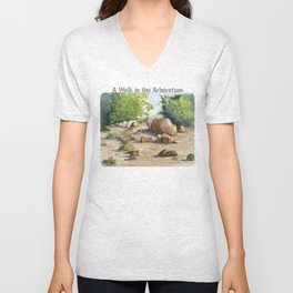 A Walk In the Arboretum Unisex V-Neck