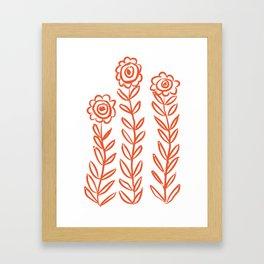Flower Party in Flame Framed Art Print