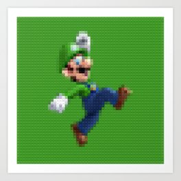 Luigi - Toy Building Bricks Art Print