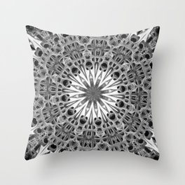Black-and-White Abstract 17 Throw Pillow