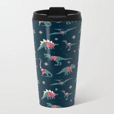 Dinos In Sweaters Metal Travel Mug