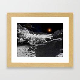 Avalanche on Iapetus Framed Art Print
