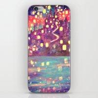 lanterns iPhone & iPod Skins featuring Lanterns by Jadie Miller