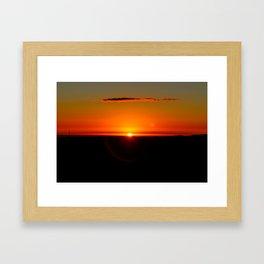 Sunrise at High Peak. Framed Art Print