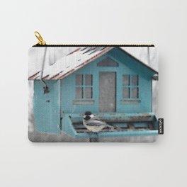 Winter Chickadee Feeding | Bird | Birds | Nadia Bonello | Canada Carry-All Pouch