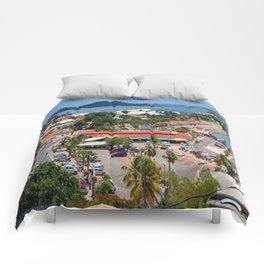 Colorful island and city scenes of Sint Maarten - St. Martin Comforters