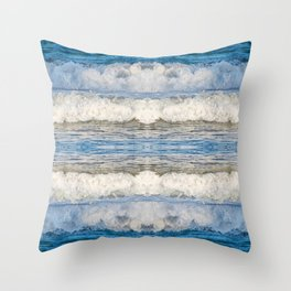 Abstract Waves splashing off the Queensland coast, Australia kaleidoscope Throw Pillow