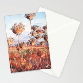 Queen Anne's lace_pastel art Stationery Cards