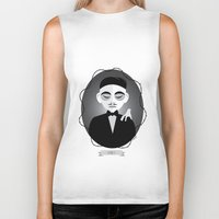 selena gomez Biker Tanks featuring Gomez Addams by Love Ashley Designs