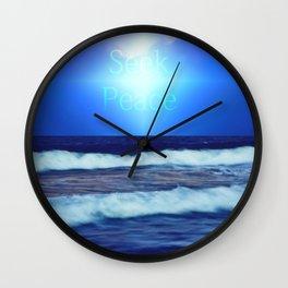 Seek Peace Wall Clock
