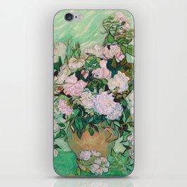 Pink Roses Van Gogh iPhone Skin