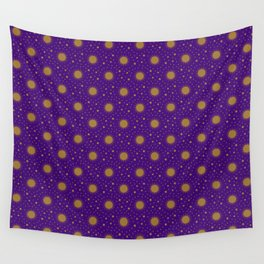 Astrological Purple Stars and Sun Wall Tapestry