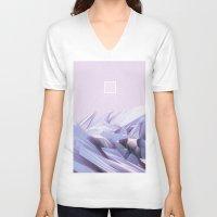 data V-neck T-shirts featuring Data Crystals by memoirnova