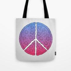 Peace & Pizza Tote Bag
