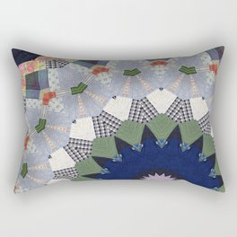 Patchwork Whimsy -- Vintage Block Quilt Mandala Kaleid0scope Rectangular Pillow