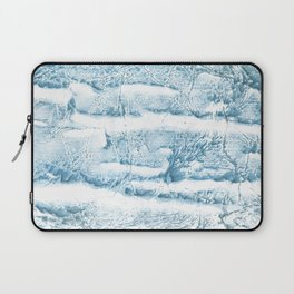 Blue marble streaked wash drawing Laptop Sleeve