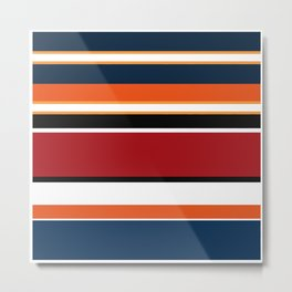 Abstraction . Striped colorful pattern . Metal Print