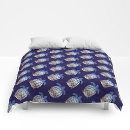 Turtle beach pattern Comforters