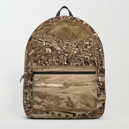 Vintage Pictorial Map of Troy NY (1881) Backpack