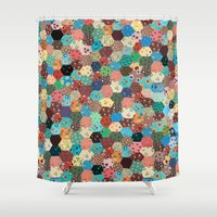 quilt Shower Curtains featuring Quilt by Tye Cottage Shop
