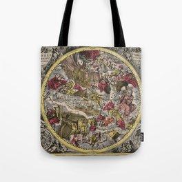 Keller's Harmonia Macrocosmica - Scenography of the Northern Celestial Hemisphere 1661 Tote Bag