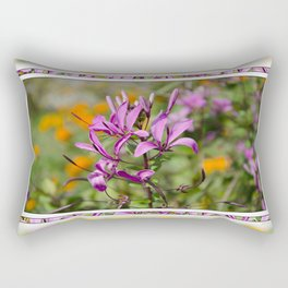 PASTEL PURPLE FLOWER  Rectangular Pillow