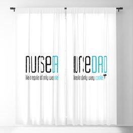 Nurse Dad Gift  Blackout Curtain