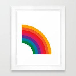 Retro Bright Rainbow - Right Side Framed Art Print