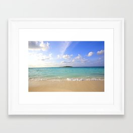 Maldives Beach Framed Art Print