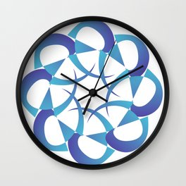 Rowena Blue  Wall Clock