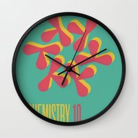 chemistry Wall Clocks featuring Chemistry 10 by lynseycreative