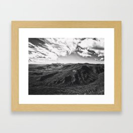 Race Of The Clouds Framed Art Print