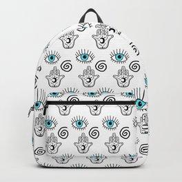 Evil Eye Hamsa Print Backpack