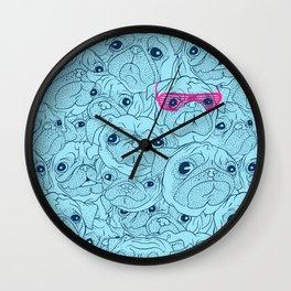 Pug jumble Wall Clock