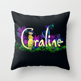 Coraline Throw Pillow
