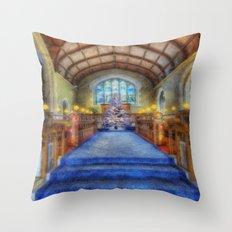 Church at Christmas Throw Pillow