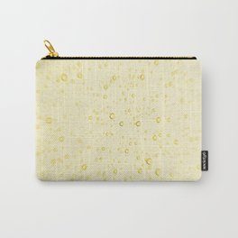 Soft Golden Yellow Champagne Wedding Fizzy Bubbles Carry-All Pouch