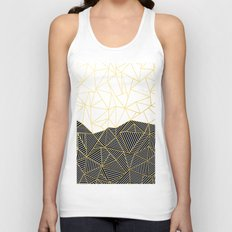 Ab Half and Half White Gold Unisex Tank Top