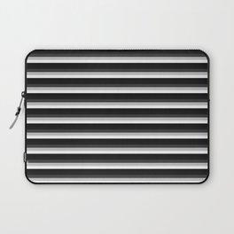 Stripes Black Gray & White Ombre Laptop Sleeve